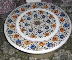 White Marble Inlaid Table Tops