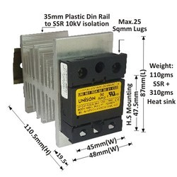 90 AMP RANDOM DC TO AC SOLID STATE RELAY