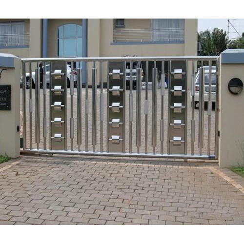 Stainless Steel Modern House Gate Designs: Designer Main Gate, Ss Gate, Stainless Steel Darwaja