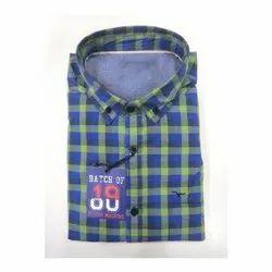 Cotton, Linen Checks Mens Shirts