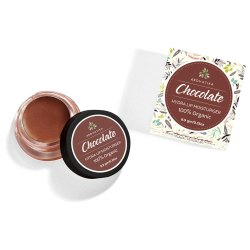 Arovatika Chocolate Organic Lip Balm (9g), Handmade with Shea Butter, Beeswax and Vegetable Dyes