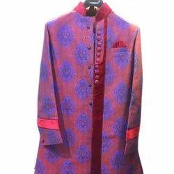 S-xxl Polyester Wedding Wear Mens Indo Western Sherwani