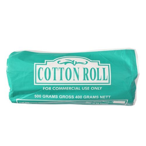 Surgical cotton roll, for Commercial, 500 Grams Gross 400 Grams Nett