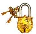 Brass Padlock: Bismillah al-Rahman al-Rahim