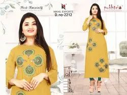 Ladies Fancy Rayon Milan Kurti