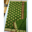 Printed Party Wear Silk Traditional Chanderi Saree, Packaging Type: Box, 6.5 M