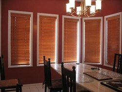 Polyester Brown Venetian Blinds, For Hotels. Offices And Home, Size: Standard