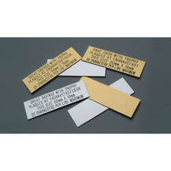Steel Name Plate Printing Service