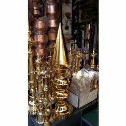 Brass Gold Plated Mandir Kalash