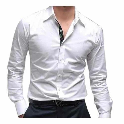 1ec4d487ef White Full Mens Formal Shirt, Rs 200 /piece, Rahim Silk House | ID ...