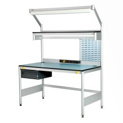 Rectangular Silver SS Inspection Work Tables, For Industrial Use, Size: 7x5x3 Feet