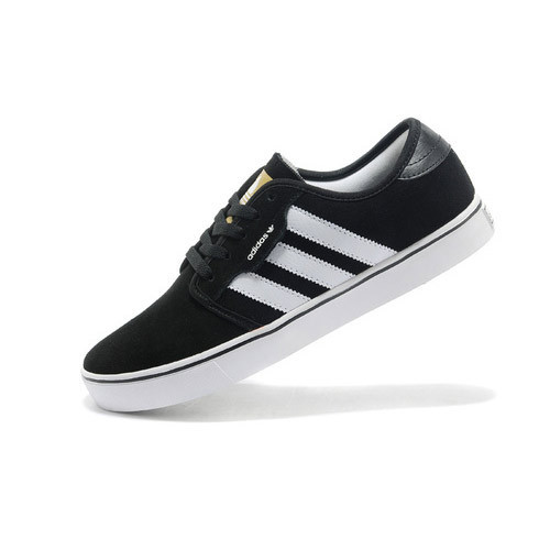 Men Black White Adidas Shoes