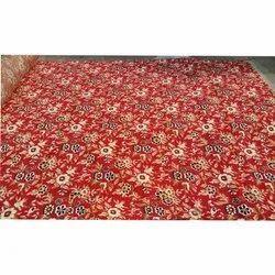 Galaxy Red Rectangular Cotton Red Floor Carpet