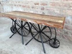 Natural Reclaimed wood Vintage Restaurant Table, Size: 8 Seater