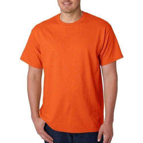 03e01ce3 Half Sleeve Mens Orange Round Neck T Shirt, Rs 100 /piece | ID ...