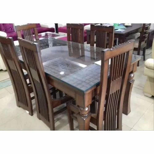 6 Seater Dinning Table Set, Glass Dining Room Table And Chairs