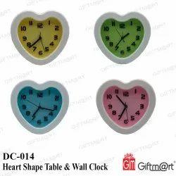 Giftm@rt Analog Heart Shape Table & Wall Clock