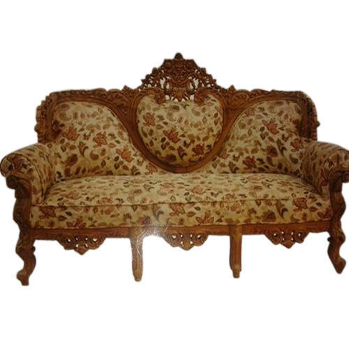 Carved sofa set solid wood and italian leather