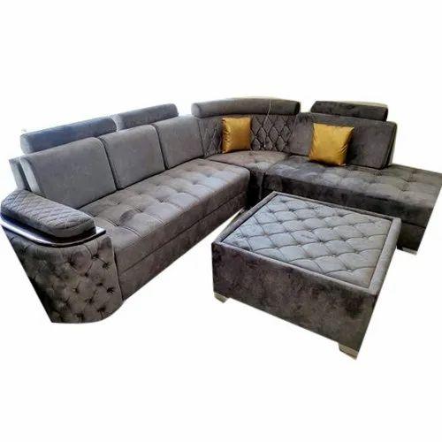 Shayra Wooden L Shape Designer Sofa Sets, Hall, Rs 47000 ...
