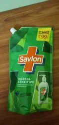 Savlon Herbal Sensitive pH Balanced Liquid Hand Wash Refill Pouch, 750ml
