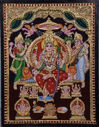 Lalitha Ambigai Tanjore Painting