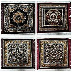 A2Z Rectangular Velvet Prayer Asan Mat, Size: 20 * 20 Inches