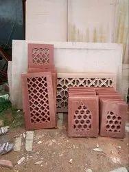 Red Railing Stone Jali