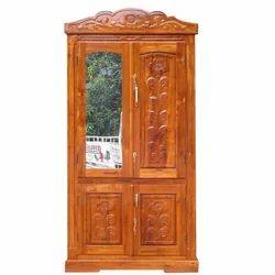 Carved Teak Magic Wardrobe.Brown 2 Doors Traditional Wooden Almirah Jangid House Id 14689586997