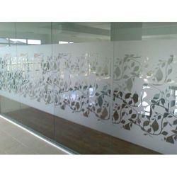 Printed Frosted Glass Film, Upto 5mm