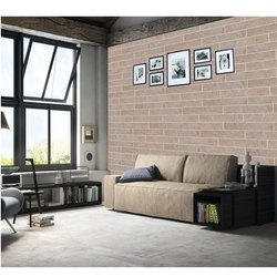 ESS ESS Beige Frisson Tusk High Gloss Strips Tiles, For Wall, Size/Dimension: 200x1200 mm