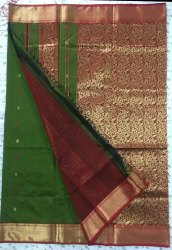 Maheshwari Cotton Silk Saree, Length: 6.3 m