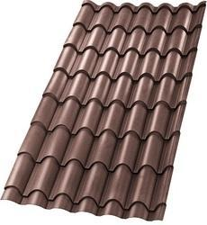 Geo Brown Matte Finish Ultima Eurotile Roofing Sheet