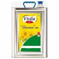Liquid Vivlin Sunflower Oil, Packaging Type: Tin, Packaging Size: 15 Kg
