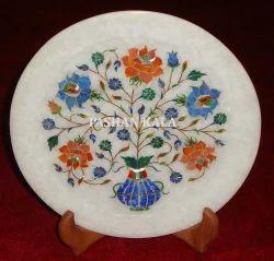 Semi - Precious Gem Stone Inlay Plate