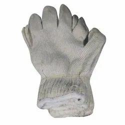Full Finger Nitrile Hand Knit Woolen Safety Gloves, For Industrial