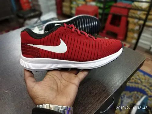 Mesh Casual Wear Mens Red Casual Shoes