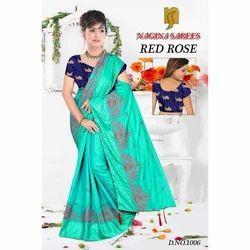 Ladies Traditional Saree with Blouse Piece, Saree Length: 6.3 m