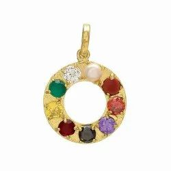 Navgrah Gold Plated Pendant