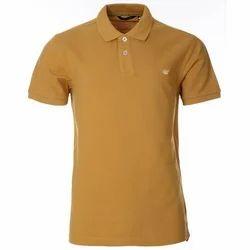 Cotton Half Sleeve Polo Neck T-Shirt
