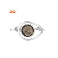 DWS Smoky Quartz Gemstone Sterling Silver Ring Supplier