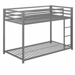 Powder Coated Metal Bunk Bed, Single, Size: 36x72