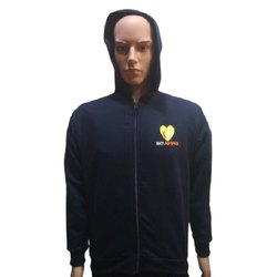 Cotton- Polyester Hooded Corporate Sweatshirt, Size: XL