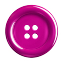 Hot Pink Plastic Button