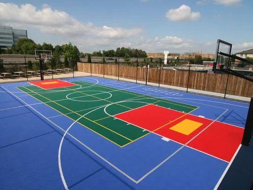 Superbe Outdoor Basketball Court Flooring