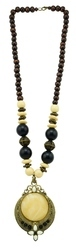Multi Color Handicraft Jewellery Traditional Ethnic Brass Pendant Beads Necklace Set
