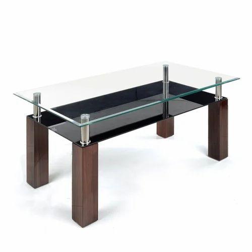 Wooden U0026 Glass Rectangular Fancy Table