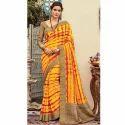 Yellow Ladies Saree