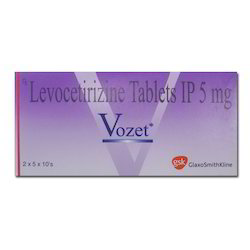Medicine Grade Levocetirizine Antihistamine Tablets, Packaging Type: Strips