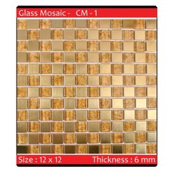 Evaio Gloss Glass Mosiac Tiles, Size: 12x12 Inch, Packaging Type: Box