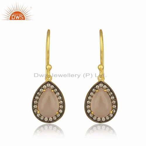144653587 Brass Fashion Jewelry - Natural Amethyst Rainbow Moonstone Gemstone ...
